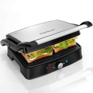 Electric Panini Press Indoor Grill Sandwich Maker