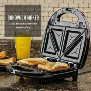 Ovente Electric Sandwich Grill Waffle Maker